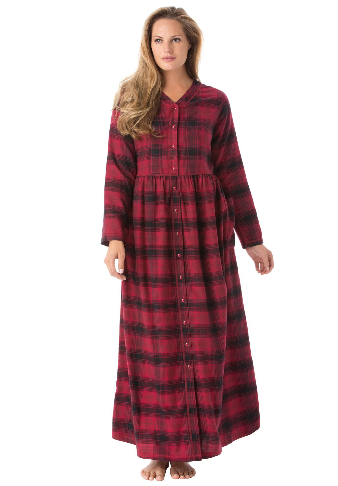 flannel snap front lounger by only
