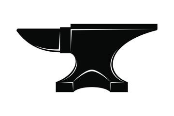 Wall Mural Icon Anvil For Blacksmith Symbol Blacksmith Logo Sign Silhouette Anvil Heavy Industry Vector Illustratio Anvil Blacksmithing Illustration Wall