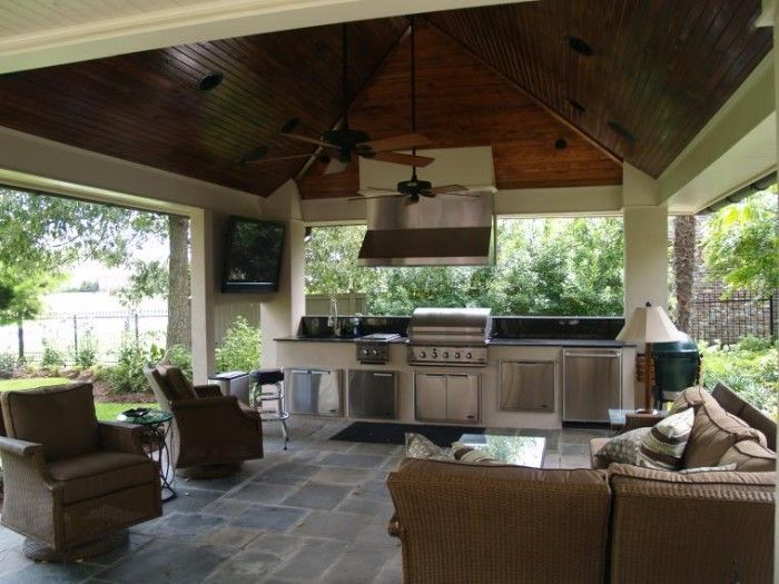Have You Ever Cooked Out In Outdoor Gazebo Kitchen ? #Gazebo Kitchen  #OutdoorKitchen #GardenKitchen #PatioKitchen
