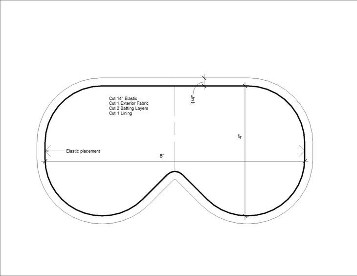 маска для сна выкройка - Поиск в Google   Sewing ideas   Pinterest ...