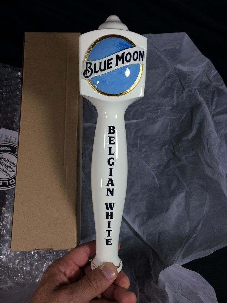 9218354c Blue Moon Beer Tap Handle Belgian White New! Bar Pub Man Cave in ...