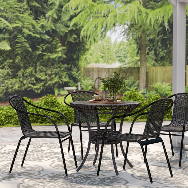 Abrahamic Stacking Patio Dining Chair In 2020 Patio Dining Chairs Outdoor Tables And Chairs Patio Dining