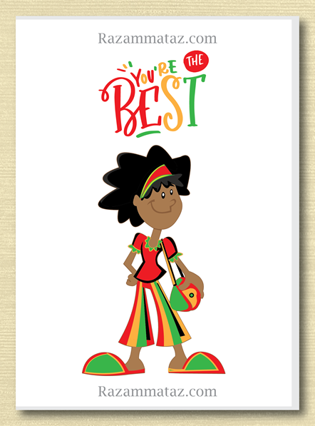 African American Girl Youre The Best Card African American