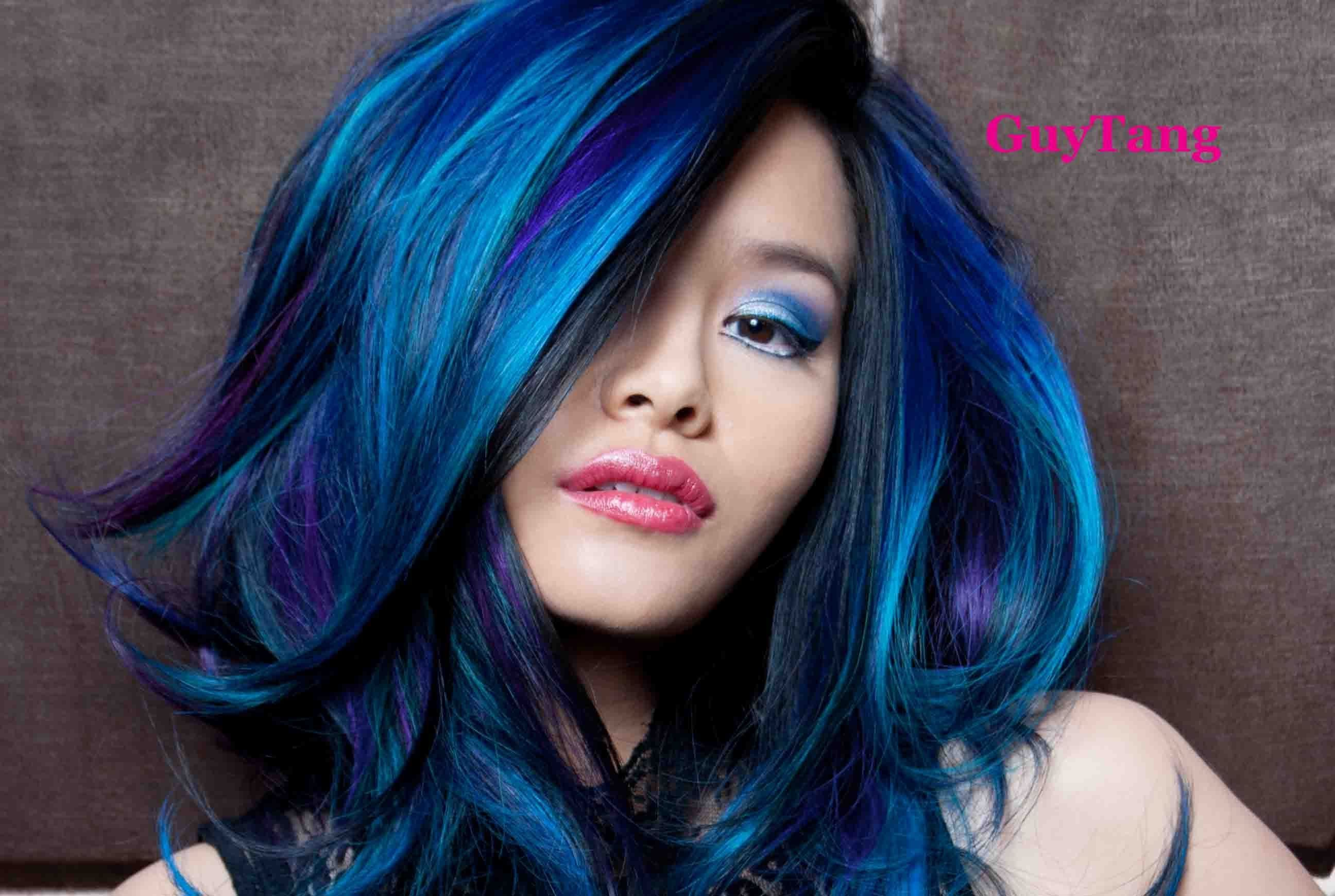 Guy tang turquoise blue purple ombre hair fashion hair colors
