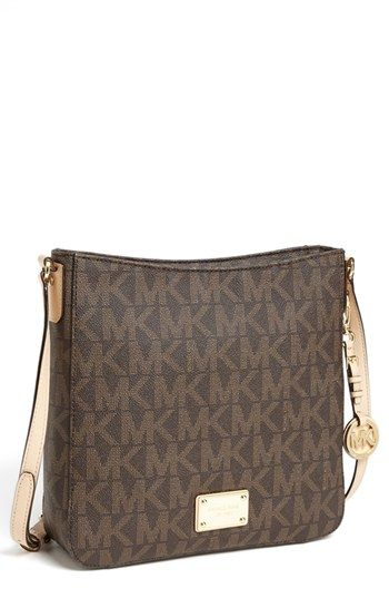 Michael Kors Jet Set Signature Large Messenger Bag Available At Nordstrom