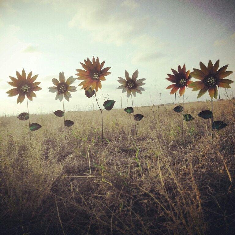 Metal Sunflower Garden Stakes Metal Yard By GardenDreamsDecor