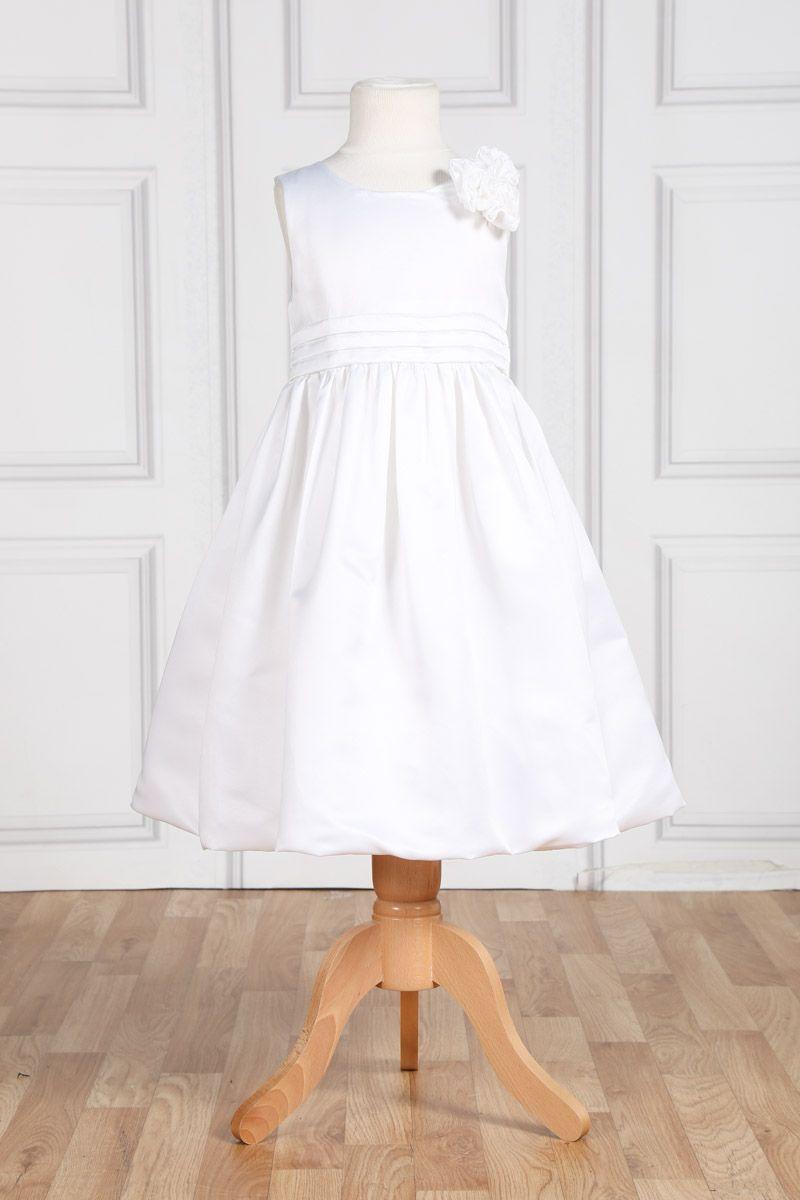 4a4c9e8da89 Robe de cérémonie en satin blanc - Tati