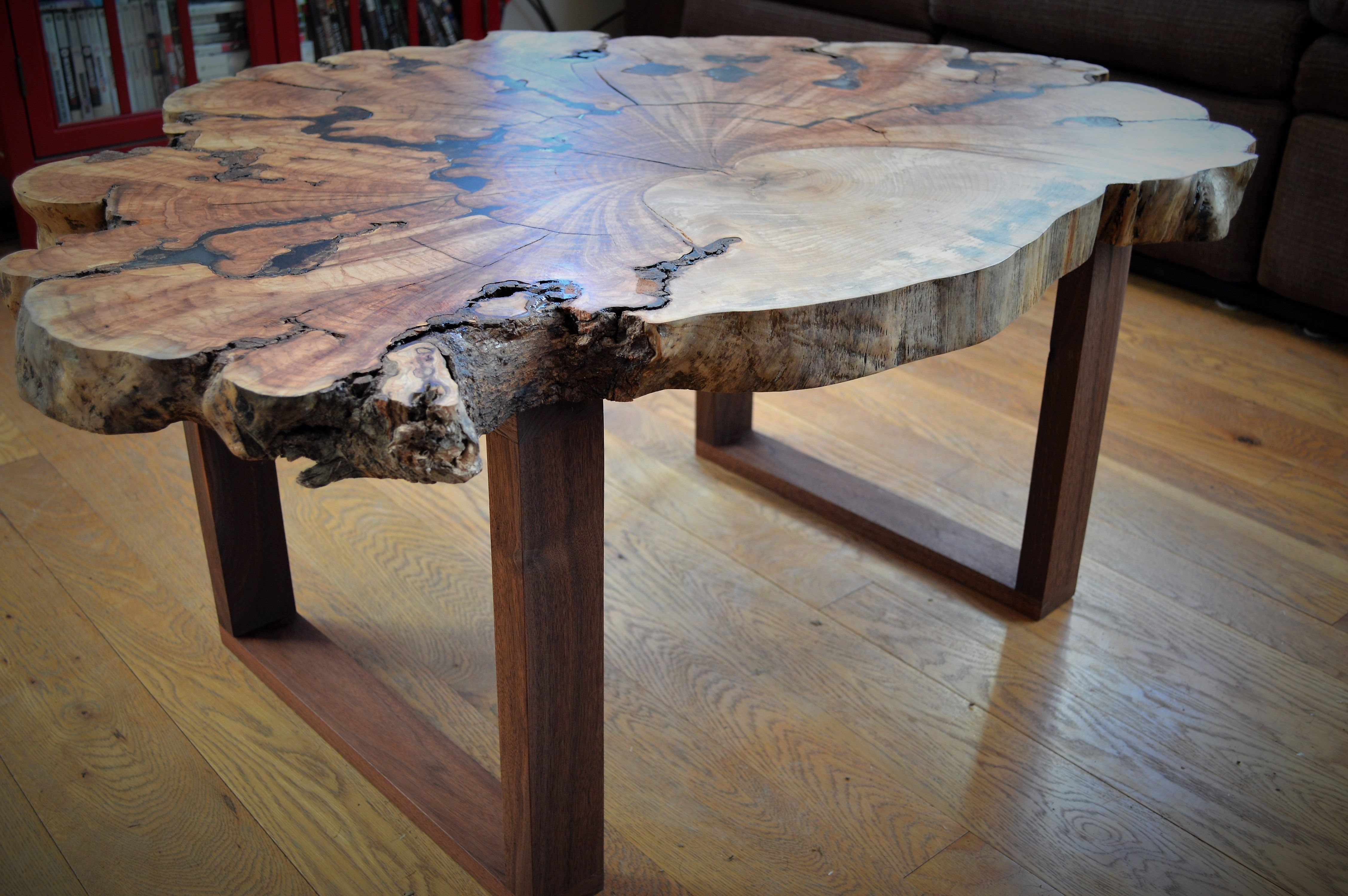 Custom Made Live Edge Maple Burl Coffee Table Coffee Table Wood