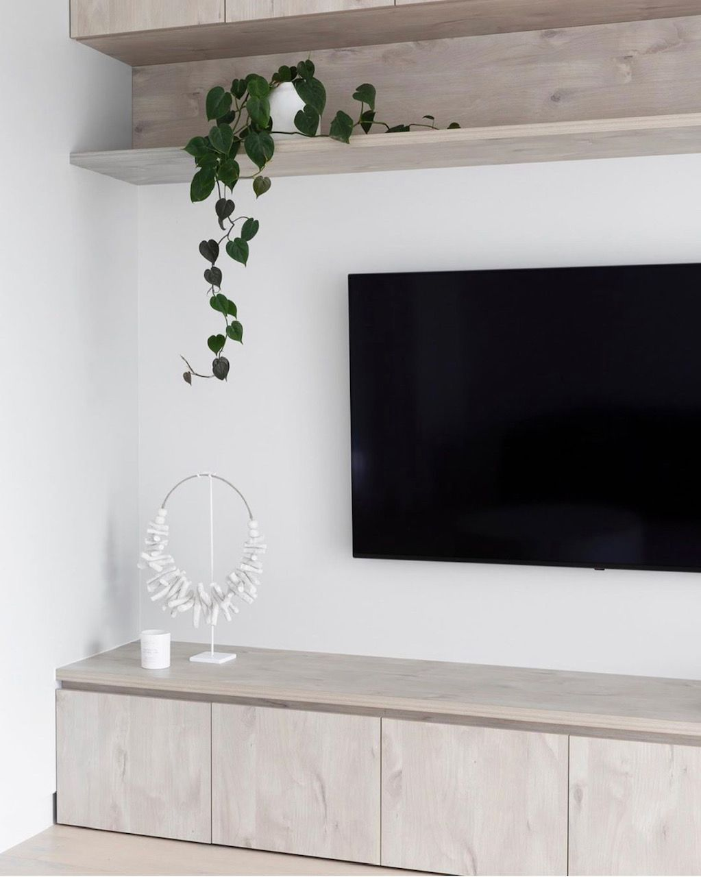 5 Tips to Creating a Scandi Style home Built in tv