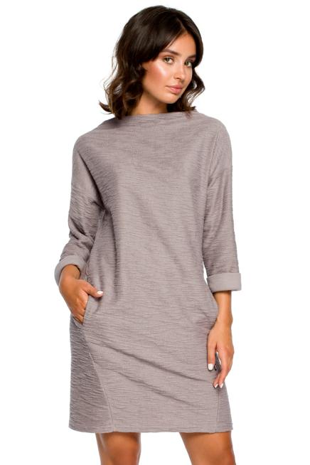 Swobodna Dzianinowa Sukienka Z Kieszeniami Kobieta Odziez Sukienki Sukienki Shop Sweater Dress Fashion High Neck Dress