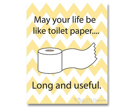 Bathroom Printable Toilet Paper Sign Funny Bathroom Quote Latrine ...