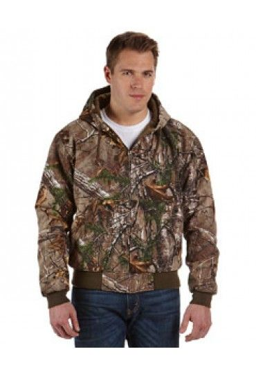 5020R Dri Duck Realtree® Xtra Cheyene Jacket: 12 oz., 100% cotton quarry washed Boulder Cloth™™ canvas diamond quilted brushed tricot lined body and hood articulated elbows inside cell phone and patch pockets with snap closure rib knit cuffs and waistband with spandex heavy-duty metal zipper with DRI DUCK pull Realtree® Xtra licensed pattern  Sizes: S - 6XL   Companions: 5020RT(Tall)