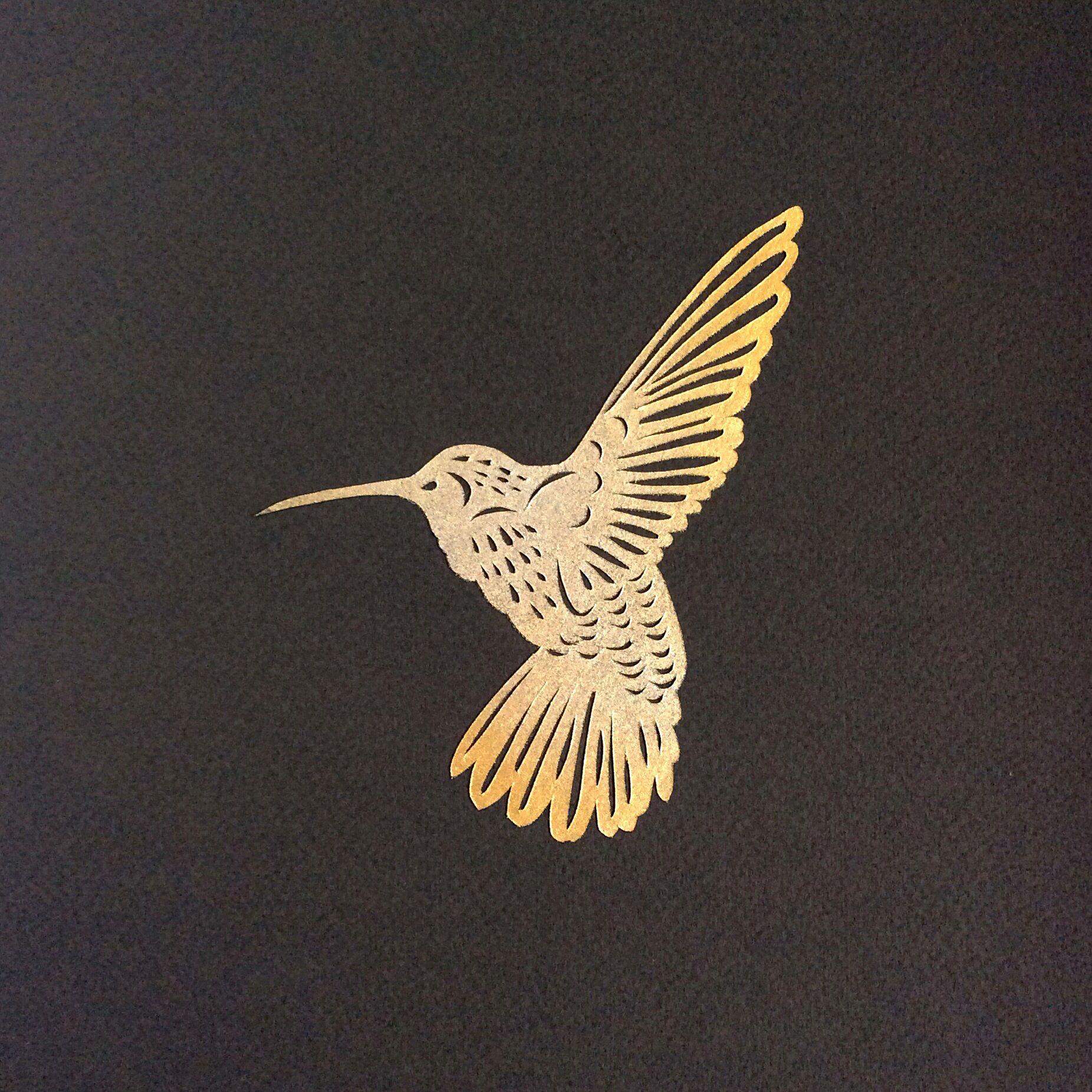 Hummingbird Papercut In Gold Silver Paper Cut Pinterest