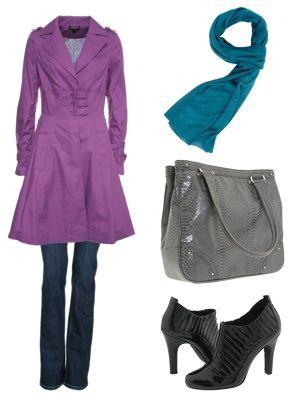 Cute purple coat.
