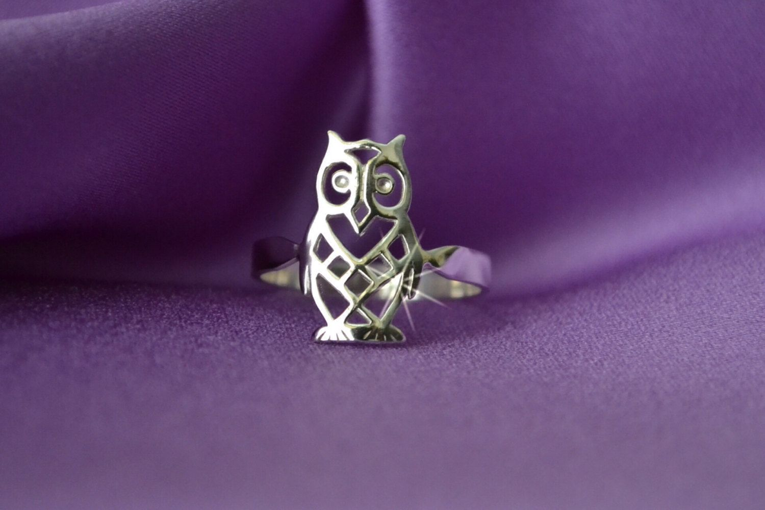 Owl Ring - Sterling Owl Ring - Silver Owl Ring