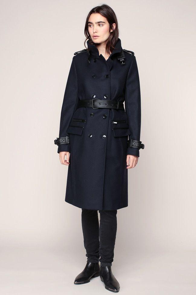 The kooples manteau femme noir