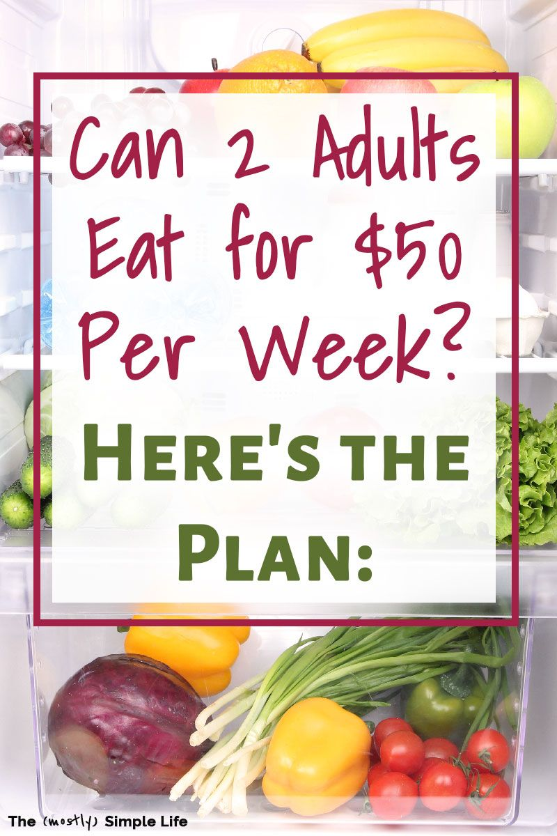 Budget Grocery List 50 a Week Budget meal planning