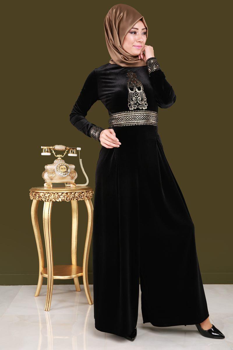 Varakli Tesettur Tulum Siyah Urun Kodu Rz6115 139 90 Tl Moda Stilleri The Dress Kiyafet