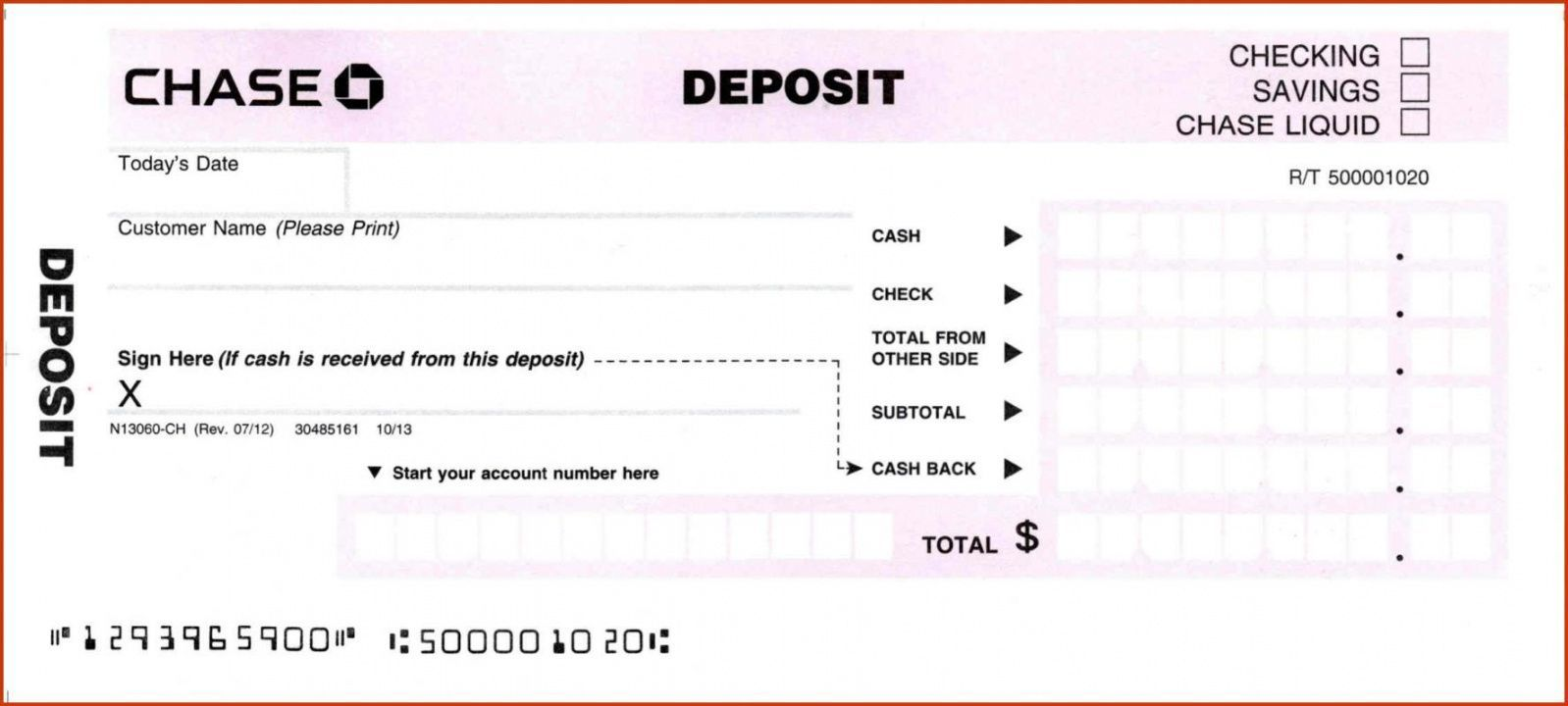 Browse Our Image Of Bank Deposit Slip Template For Free Deposit Bank Deposit Templates
