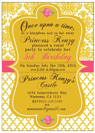 Beauty And The Beast Belle Inspired Birthday, Baby Shower Or Wedding Shower  Party Invitation (