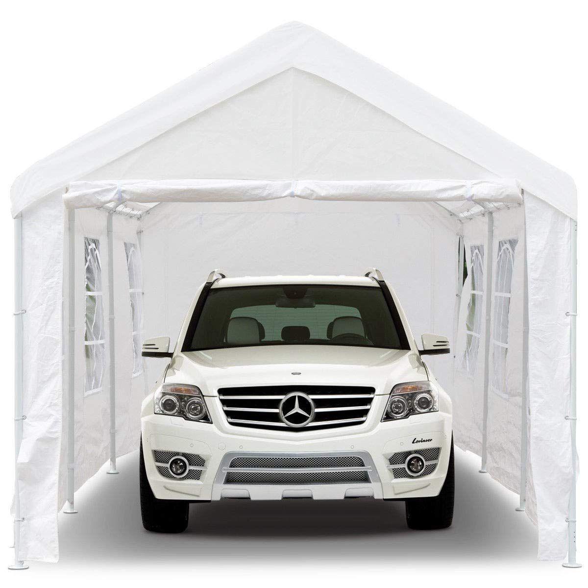 Peaktop 20'x10' Heavy Duty Portable Carport Garage Car