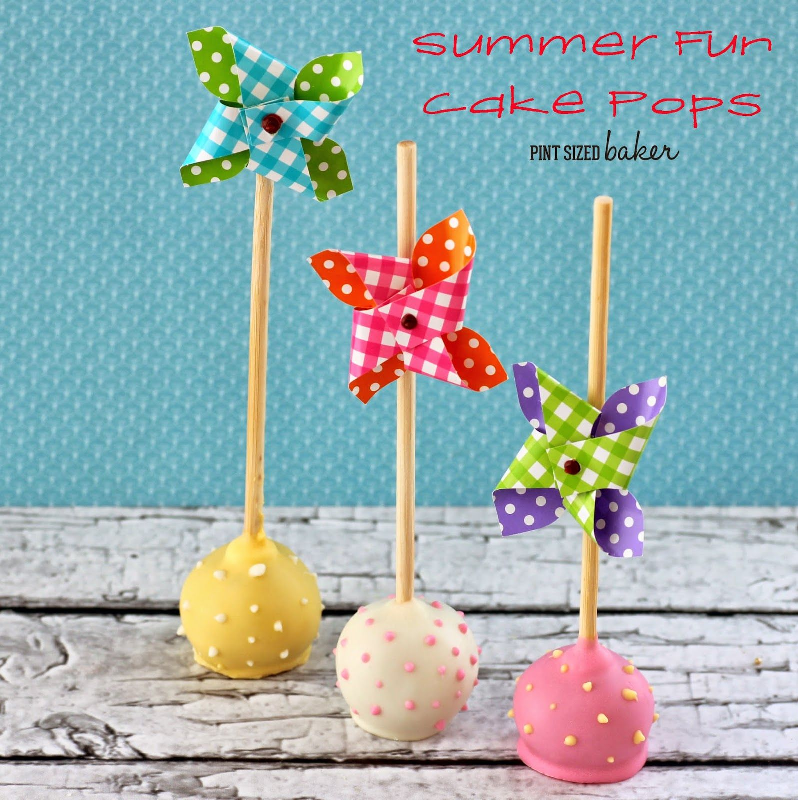 Pinwheel Cake Pops and a Giveaway Pint Sized Baker