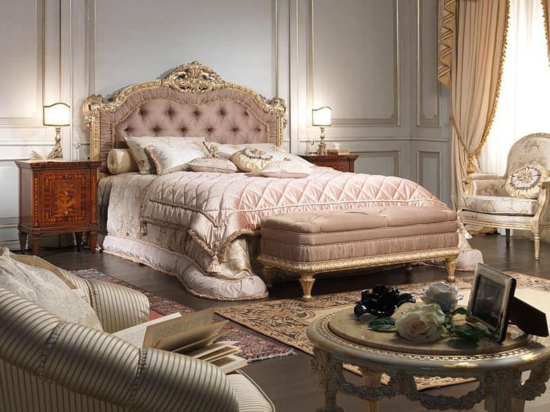 Letto in stile Luigi XV, per camera matrimoniale di lusso   玫瑰园 ...