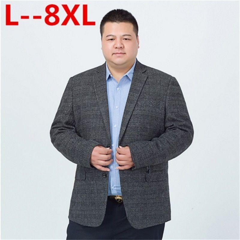 ee4c3b24447f4 Big 10XL 8XL 6XL 5XL 4XL Mens Korean Loose fit fashion cotton blazer Suit  Jacket plus size Male blazers Mens coat Casual Suits Review