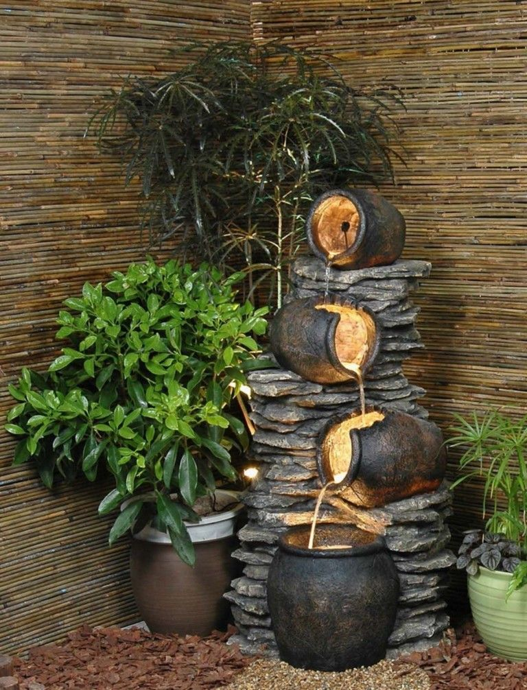 12 Lovely Diy Indoor Water Fountain Ideas That Will Enhance Your Home Beauty Indoor Water Fountains Indoor Waterfall Fountain Indoor Water Features