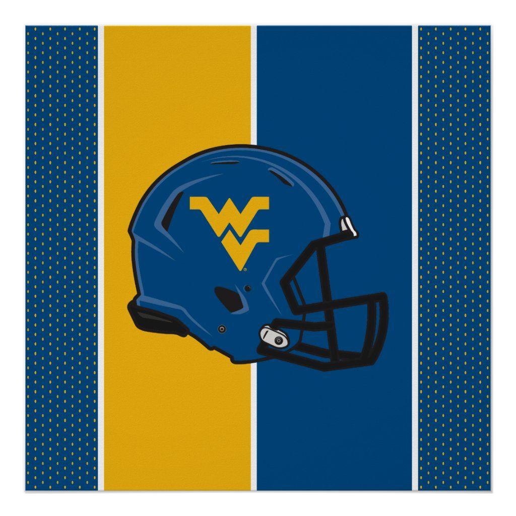 West Virginia University Helmet Poster Zazzle Com In 2021 West Virginia University West Virginia West Virginia Mountaineers Football [ 1024 x 1024 Pixel ]