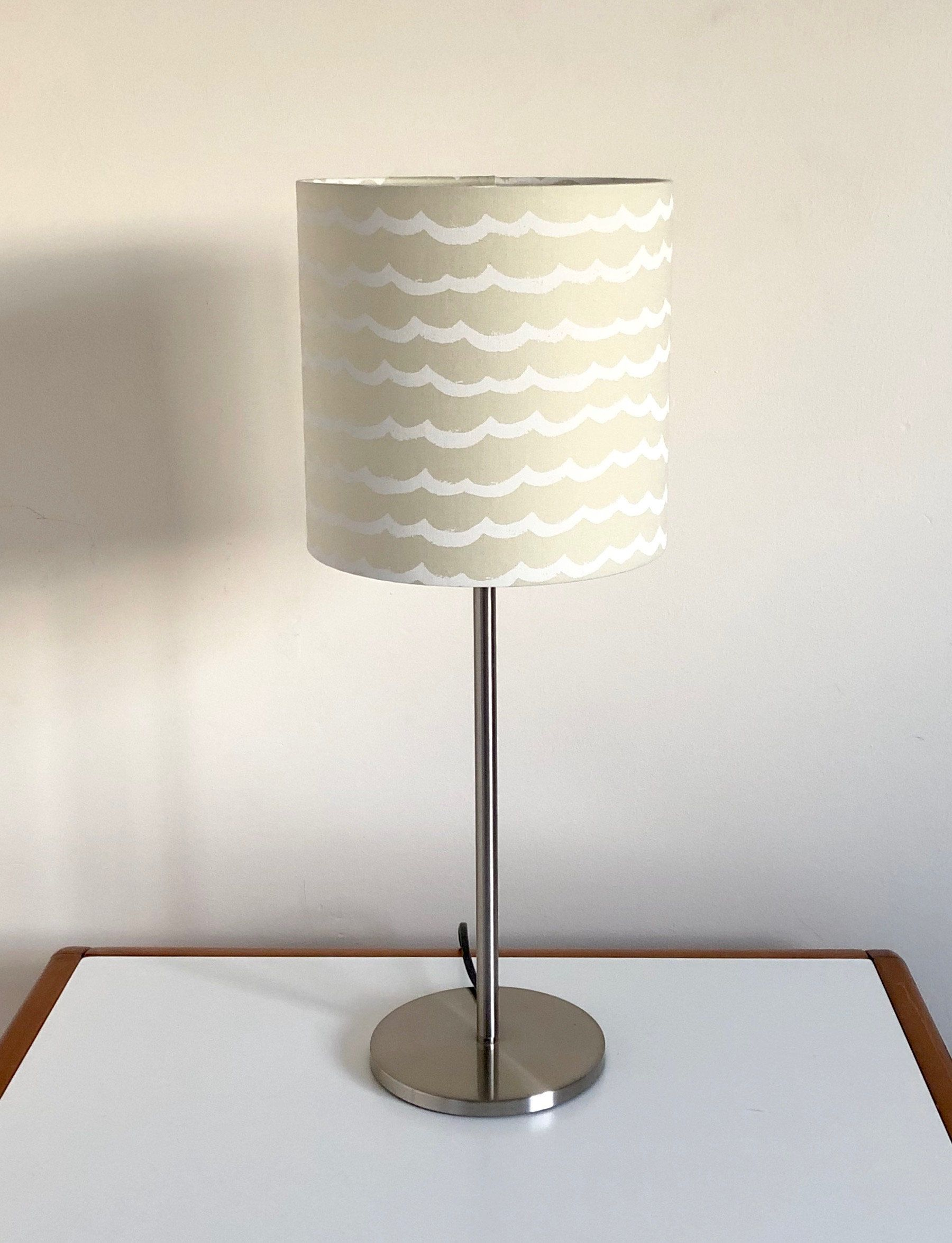 Waves On Sand Lampshade Cream Lampshade Cream Lamp Wave Print Lamp Shade Table Lamp Or Ceiling Lamp Coastal Beachy Decor Lamp Ceiling Lamp Table Lamp