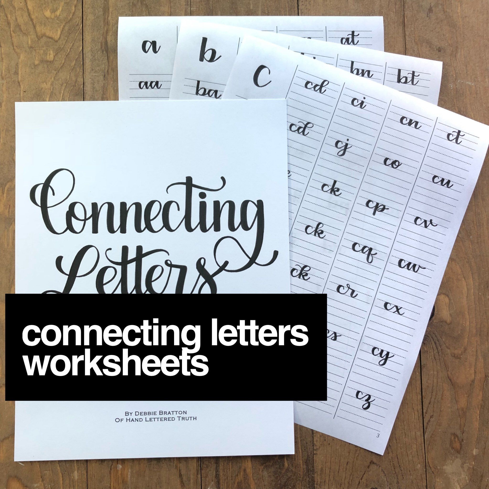 Connecting Letters Worksheets By Handletteredtruth On Etsy