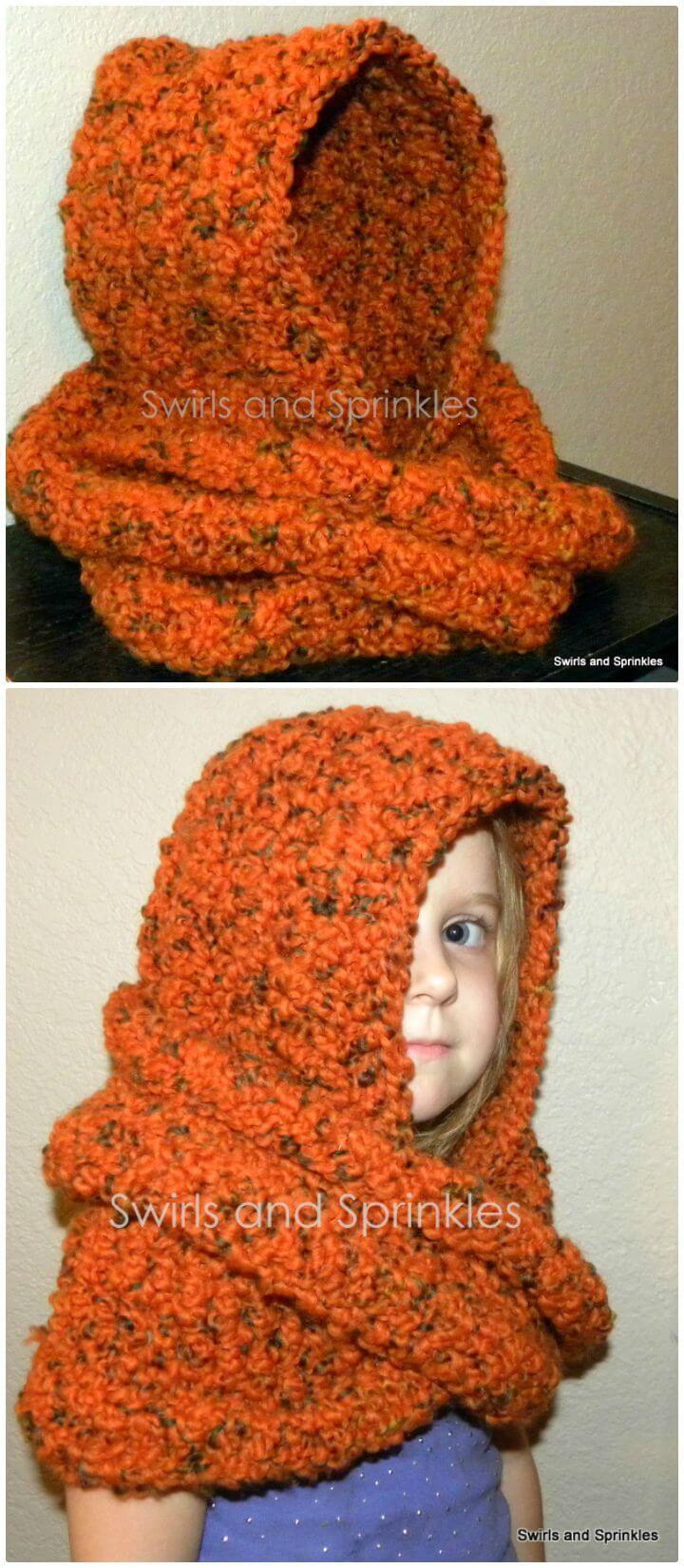 31 Free Crochet Hooded Scarf Patterns | Hooded scarf pattern ...