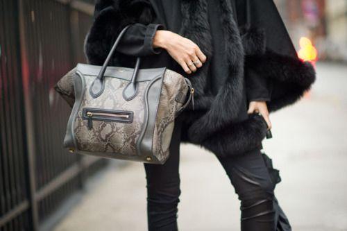 La Modella Mafia Model Street Style Bags Animal Print Handbags 1