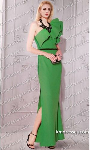architectural One-shoulder ruffled side split dress.prom dresses,formal dresses,ball gown,homecoming dresses,party dress,evening dresses,sequin dresses,cocktail dresses,graduation dresses,formal gowns,prom gown,evening gown.