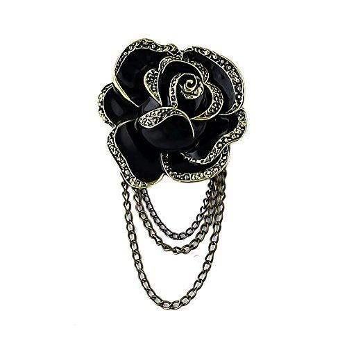 gothic rose brooch