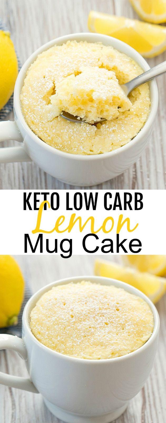 Keto Lemon Mug Cake #mugcake