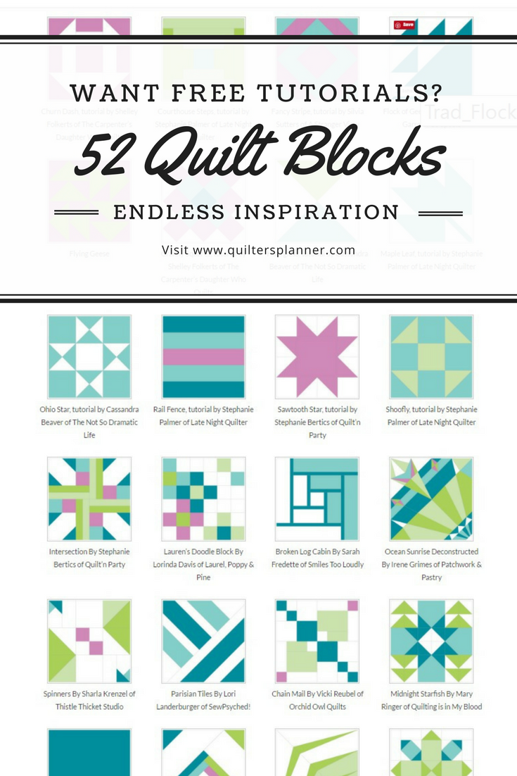 52 Free Quilt Block Tutorials From Easy To Advanced