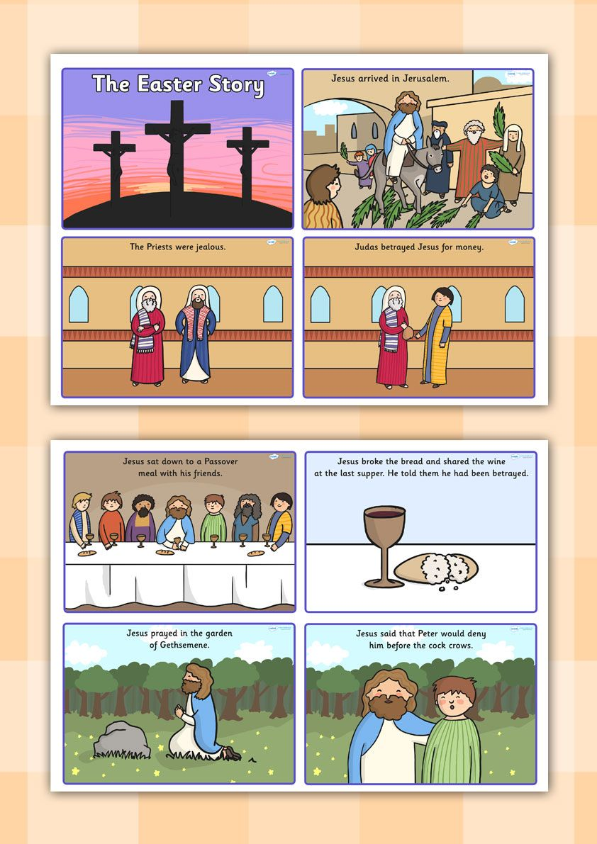 Twinkl Resources Gt Gt Easter Story Sequencing Cards border=