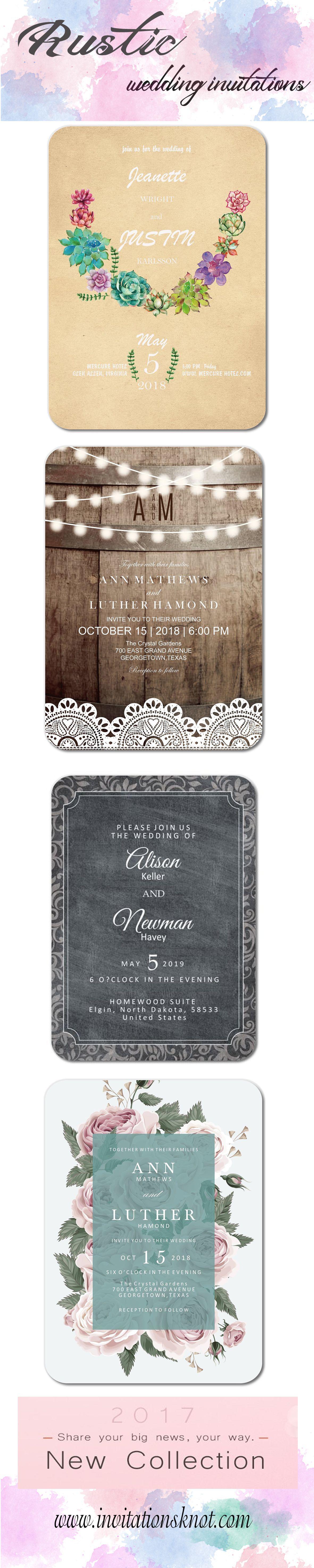 Rustic wedding invitations wedding ideas unique wedding