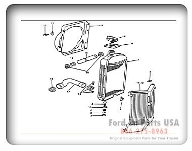 2b1ddb6aa0852d4bf4429bc90006510f ford 8n 08a01 radiator ford tractor pinterest radiators ford 8n tractor parts diagram at readyjetset.co