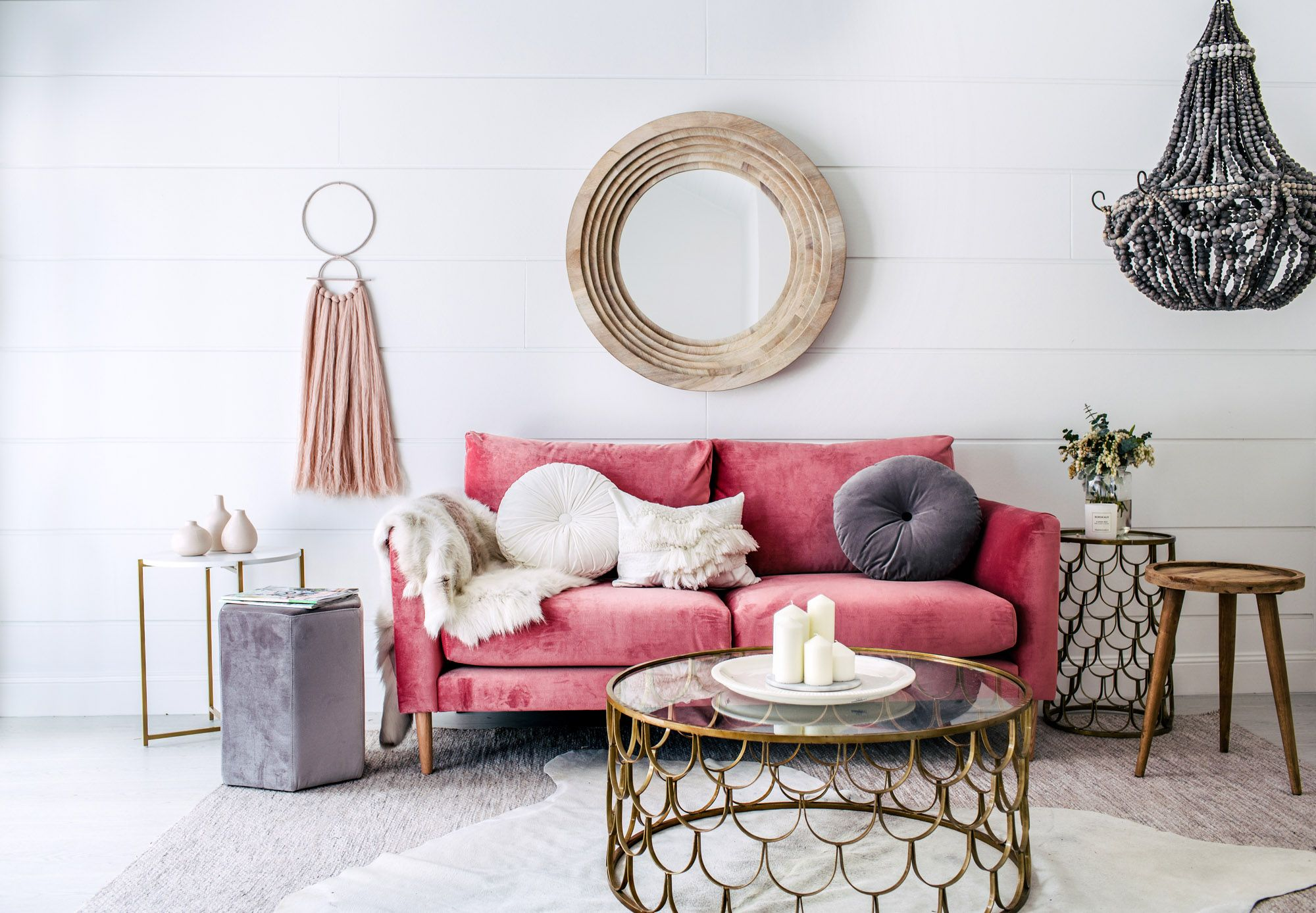 Pink Sofa Sydney Refined Beach Style In Sydney Australia For The Home Three