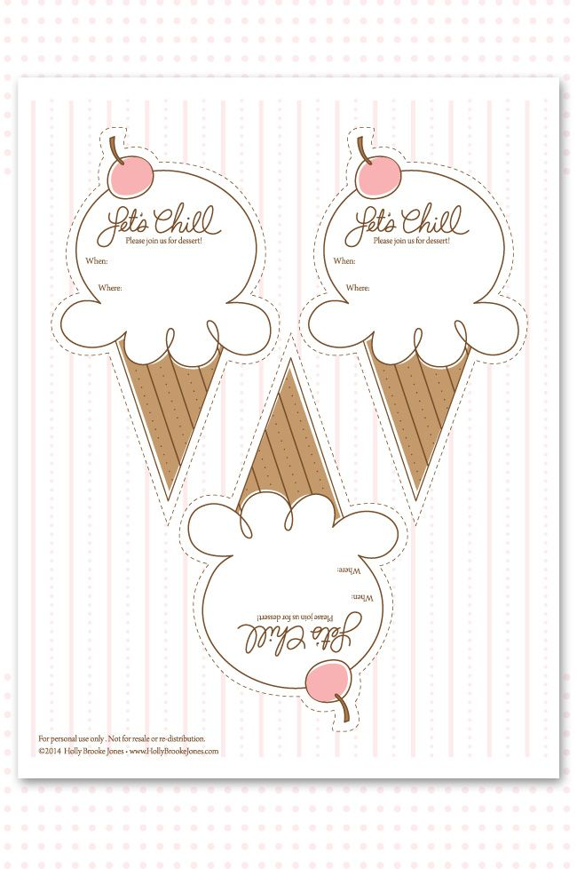Ice Cream Party Printable Invitation With Lots Of Cute Ideas As Well