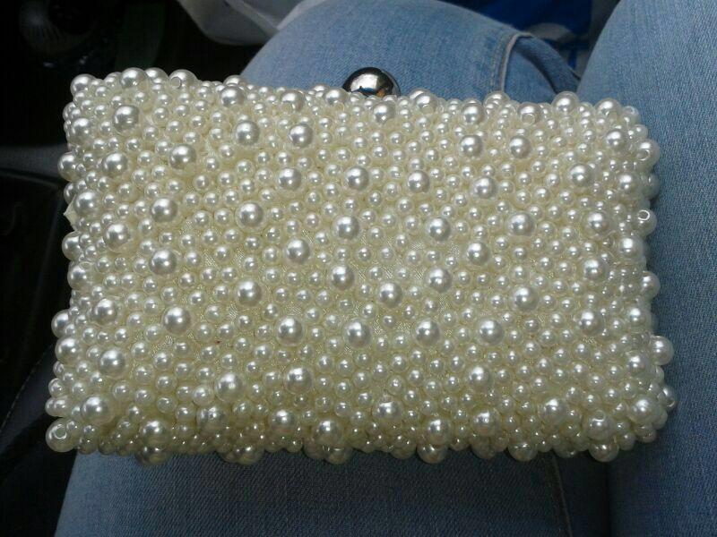 Bolso de perlas! Ideal