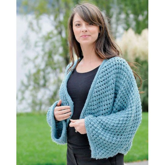 Cropped Kimono In Cascade 128 Superwash C205 Crochet Pinterest