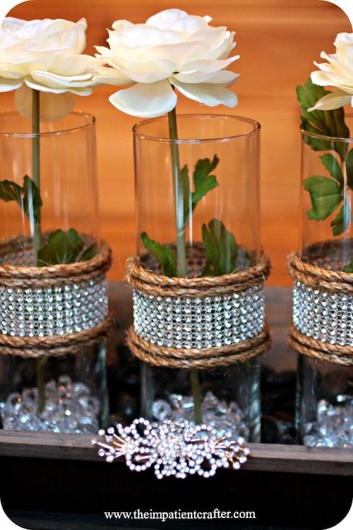 DIY Wedding Centerpiece Rustic Elegance