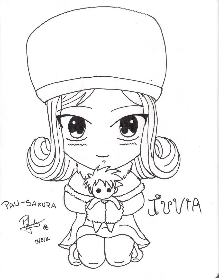 juvia chibi fairy tail by pau sakura deviantart com on deviantart