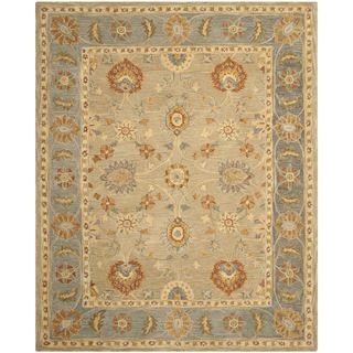 Safavieh Hand-made Anatolia Taupe/ Grey Wool Rug (9' x 12') | Overstock.com Shopping - Great Deals on Safavieh 7x9 - 10x14 Rugs