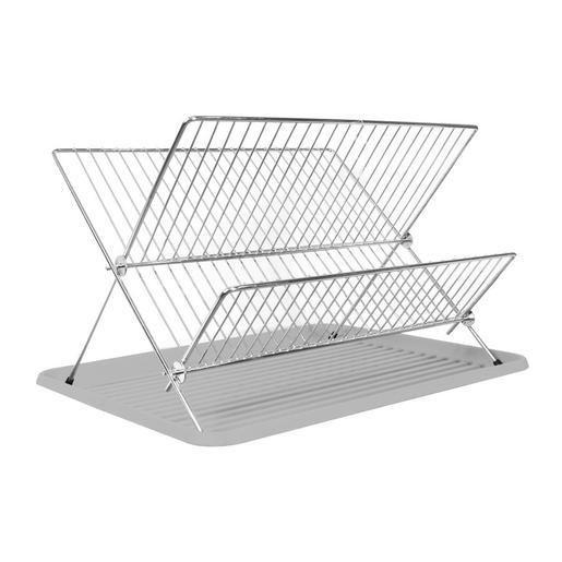 Égouttoir vaisselle plateau en acier - 43 x 32 x 28 cm - Blanc ...