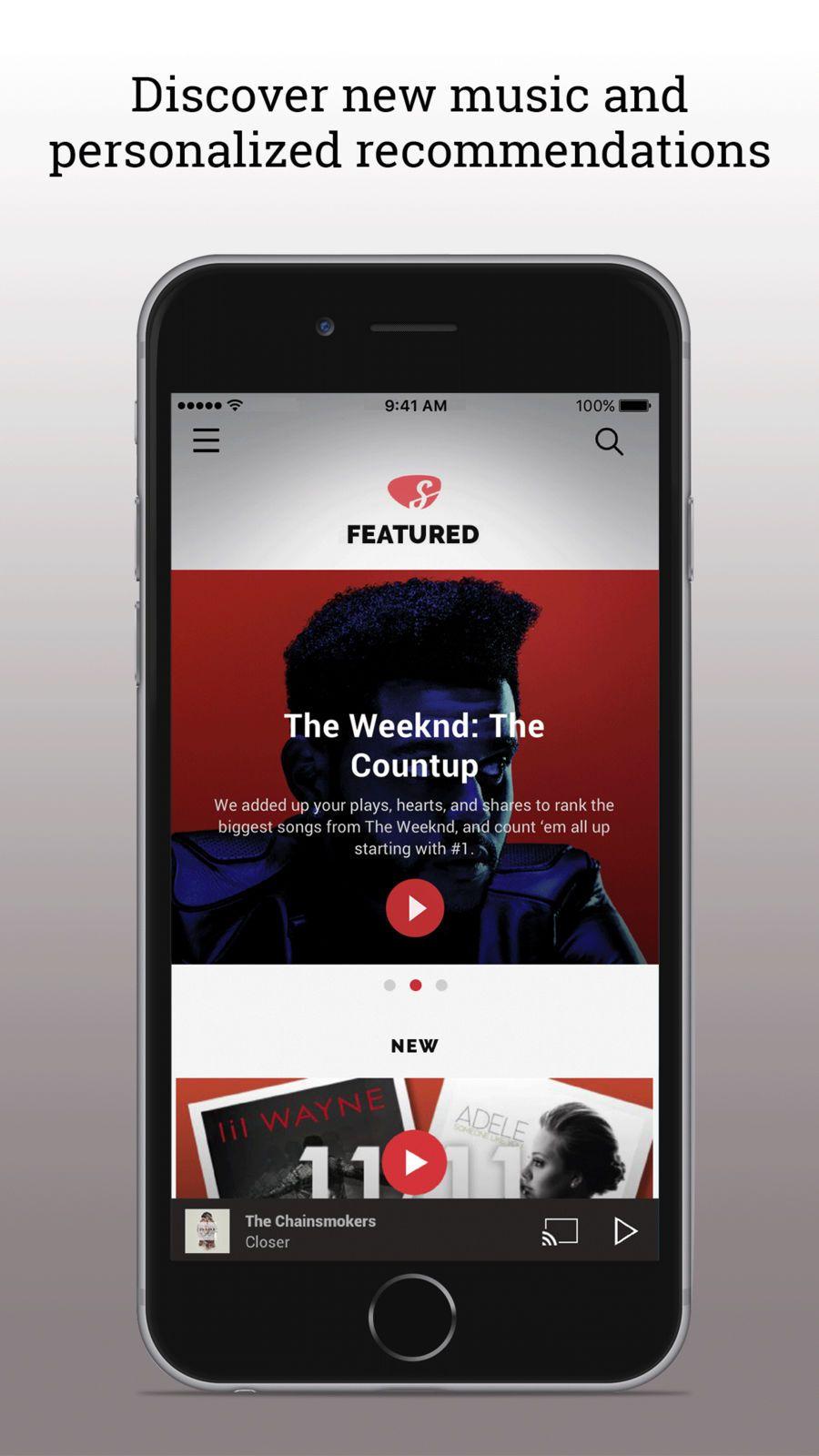 Slacker Radio iosappsappEntertainment Big songs